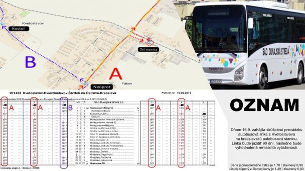 Projekt prímestskej autobusovej dopravy